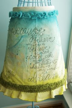 Beautiful apron art.could do this on my little dress form!