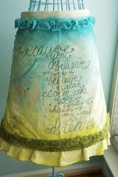Beautiful apron art