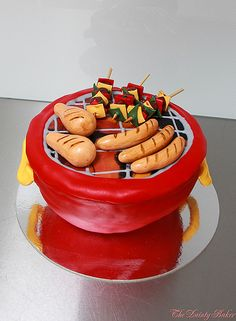 This confuses my sweet / savoury senses... Australia Day BBQ Cake