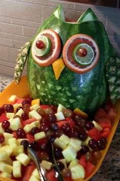 Today's Creations: Search results for watermelon owl