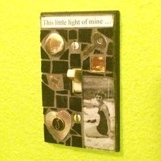 "Custom Nice ""This Little Light of Mine"" switch plate mosaics benefit Hospice."