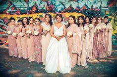 Indian Bridal Party Bridesmaid Dresses Saris 36 New Ideas Indian Wedding Bridesmaids, Indian Bridesmaid Dresses, Bridesmaid Saree, Bridesmaid Outfit, Desi Wedding, Wedding Dresses, Wedding Outfits, Wedding Hair, Indian Bridal Party