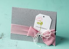 I really like this simple design using the flower from the Oh, Hello stamp set.