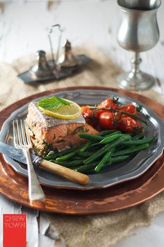 Herb Baked Salmon Recipe | Chew Town Food Blog