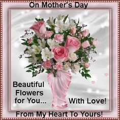 Your mom will smile when she receives these beautiful flowers from you! Free online Special Flowers For You ecards on Mother's Day Happy Mothers Day Sister, Mothers Day Post, Happy Mothers Day Pictures, Wishes For Sister, Happy Mother Day Quotes, Mothers Day Weekend, Mother Day Wishes, Mothers Day Special, Mothers Day Flowers
