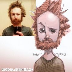 Robert DeJesus aka Banzchan est un illustrateur américain qui transforme les photos d'inconnus en cartoon.