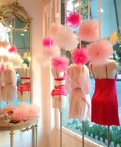 Love the vintage feel.. We have the pom poms already but I like the vintage mirror and table look