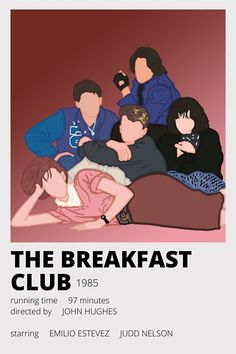 The Breakfast Club, Movie Prints, Poster Prints, Poster Wall, Iconic Movies, Good Movies, Poster Minimalista, Photowall Ideas, Minimal Movie Posters
