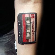 Inner Forearm Guys Summer Of 81 Cassette Tape Tattoo