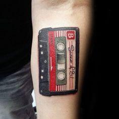 Inner Forearm Guys Summer Of 81 Cassette Tape Tattoo