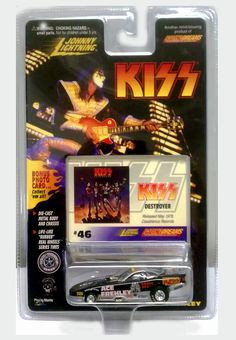 Amazon.com: Johnny Lightning / KISS / ACE FREHLEY BLACK Dragster w Bonus Photo Card / Racing Dreams Collection / 1997: Toys & Games