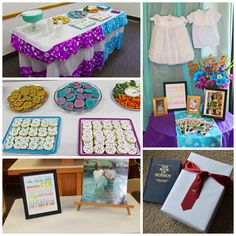 Lds Baptism Program Table We Displayed Our Kid S Blessing Clothing