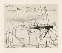 Newlyn, Ben Nicholson, from Alan Cristea catalogue Line Drawing, Drawing Sketches, Painting & Drawing, Art Drawings, Art Postal, English Artists, Environment Concept Art, Collage, Gravure