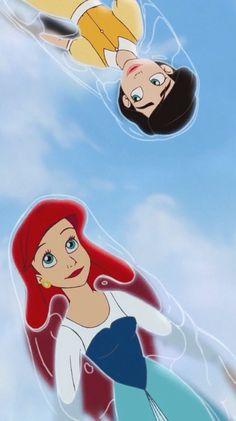 """""""Mãe, a sereia é você e eu nado melhor."""" -- Melody e Ariel"""