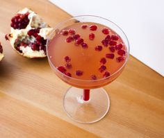 Pomegranate Champagne Cocktail — Fo Reals Life Pomegranate Cocktails, Birthday Drinks, Fancy Drinks, Champagne Cocktail, Pomegranates, Special Occasion, Pudding, Desserts, Recipes
