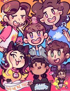 Game Grumps!! Super cute art style, I love it!  :D