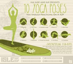 10 SUP Yoga Poses to practice on a Standup Paddle Board #IsleSurfandSUP