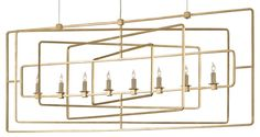 Curry and Co Metro Rectangular Chandelier