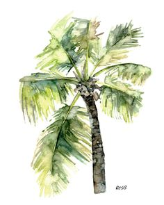 Image result for watercolor palm tree paintings