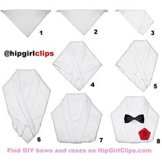 Directions for folding a men's tuxedo napkin: tuxedos youtube.
