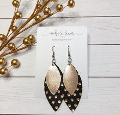 This listing is for a pair of lightweight 2.5 layered genuine leather earrings with nickel free hooks.