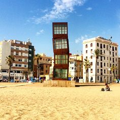 """The """"Cubes"""" in Barceloneta, Barcelona Barcelona Architecture, Barcelona City, Barcelona Travel, Amazing Buildings, Amazing Architecture, Gaudi, Hotel W, Places To Travel, Places To Visit"""