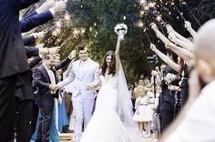 Saída dos noivos - Casamento Angelica Erthal e Brian