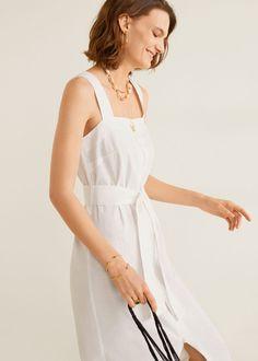 Damen Mango Outlet, Mango Fashion, Square Necklines, New Model, Evening Dresses, Latest Trends, Cool Outfits, Cold Shoulder Dress, Suspenders