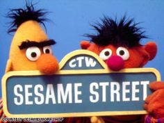 I really would like to know how to get to Sesame Street! New York, New York is on my must see list but not until I can figure out how to meet Ernie, Bert, Big Bird, Cookie Monster and Snuffie where the air is sweet! Cartoon Shows, Cartoon Characters, Cartoon Crazy, Fictional Characters, Sesame Street Muppets, Bert & Ernie, Fraggle Rock, The Muppet Show, Jim Henson