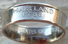 2000 Maryland State Quarter Coin Ring in a size 7 by CoinRingMan, $26.50