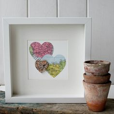 Personalised Multi Heart Map Picture