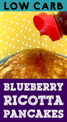 I've Been Experimenting With The Carbquick Baking Mix And I Came Up With A Delicious Low Carb Blueberry Ricotta Pancake Recipe. These Pancakes Are Light And Fluffy And Full Of Juicy Blueberry Goodness. Additionally, They Have Only Net Carbs Per Serving. Low Carb Keto, Low Carb Recipes, Healthy Recipes, Healthy Breakfasts, Healthy Meals, Healthy Eating, Blueberry Ricotta Pancakes, Beetroot Recipes, Fall Recipes