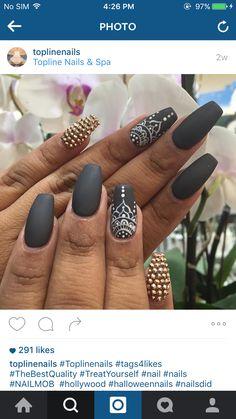 Cute Nails Color Polish Manicure Designs - Nails C Diy Ongles, Mandala Nails, Lines On Nails, Nagellack Trends, Lace Nails, Coffin Shape Nails, Nails Shape, Gray Nails, Cute Nail Art