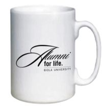 Show off your Eagle Pride in the workplace after you graduate, with a Biola alumni mug