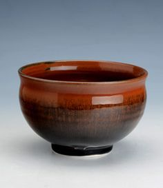Richard Heeley. Teabowl. Tenmuko glaze. (Hare's Fur.) Oakwoodceramics.co.uk