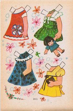 Las Recortables de Veva e Isabel*1500 free paper dolls for Christmas at artist Arielle Gabriels The International Paper Doll Society and also free Asian paper dolls at The China Adventures of Arielle Gabriel *