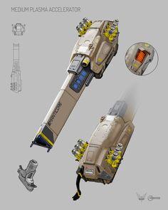 Medium plasma accelerator concept for #elite:dangerous.