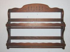 Wood Spice Rack Two Tier Lovely Older Vintage by JewelsRosesNRust, $23.50