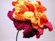 This site is the motherlode of free crochet flower patterns!