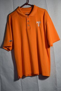 Tennessee Volunteers University mens Polo shirt size XL Orange P2 By Pro Player #P2ByProPlayer #TennesseeVolunteers