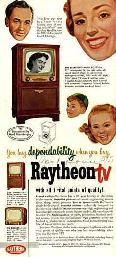 Vintage Raytheon Manufacturing Company Ad - 1951