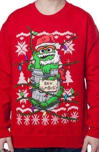 Oscar The Grouch Ugly Sweatshirt