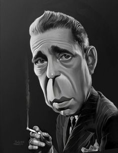 Sawyer Illustration Inc. caricature and cartoon art studio: Humphrey Bogart Cartoon People, Cartoon Faces, Funny Faces, Cartoon Art, Funny Caricatures, Celebrity Caricatures, Celebrity Drawings, Caricature Artist, Caricature Drawing