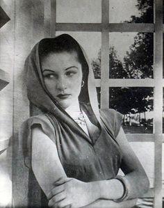 Queen Fawzia of Iran, first wife of the shah, originally princess of Egypt daughter of queen Nazli