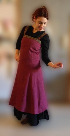 Viking Apron Dress No Trim by TawnyFeather on Etsy