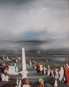 Yves Tanguy (French-American, 1900-1955), The Rapidity of Sleep, 1945. Oil on canvas, 127 x100.6 cm.