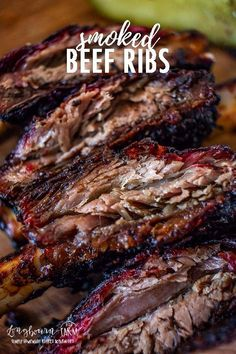 Beef Ribs are a simple recipe that is easy to get right the first time! Fall off the bone delicious with a flavor-packed bark that is to die for! Beef Ribs are a simple recipe that is easy to get right the first time! Fall off the bo. Smoked Beef Ribs Recipe, Grilled Beef Ribs, Smoked Beef Short Ribs, Pork Roast, Smoked Meat Recipes, Spinach Recipes, Rib Recipes, Grilling Recipes, Game Recipes