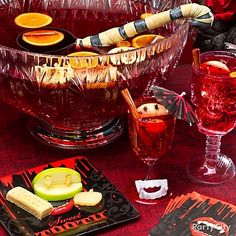 This Sinful Sangria is to die for – click for recipe & more Halloween cocktail ideas.