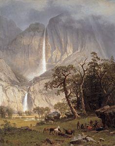 Cho-looke, the Yosemite Fall by Albert Bierstadt, 1864