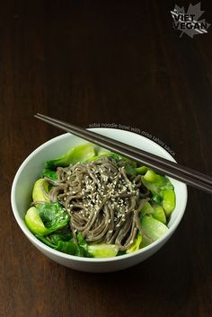 Soba Noodle Bowl with Miso Tahini Sauce
